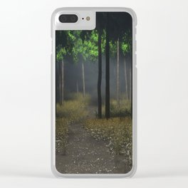 theres something in these woods Clear iPhone Case