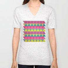 Colored Triangles Unisex V-Neck