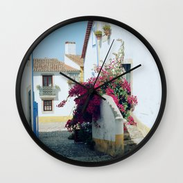 Portugal, Obidos (RR 185) Analog 6x6 odak Ektar 100 Wall Clock