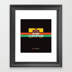 8-Bit Champion Framed Art Print