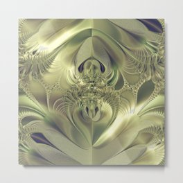Metallic Leaves Metal Print