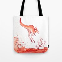 australia Tote Bags featuring Australia by chacomics