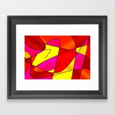 ABSTRACT CURVES #2 (Reds, Oranges, Yellow & Fuchsias) Framed Art Print