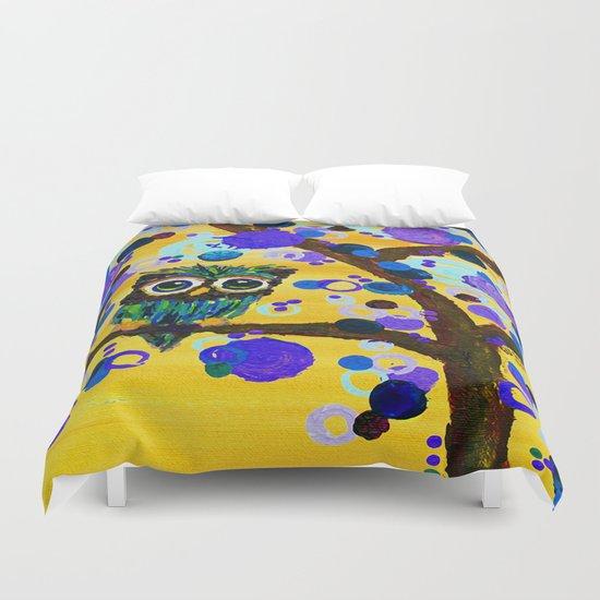 :: Sunshine Gemmy Owl :: Duvet Cover