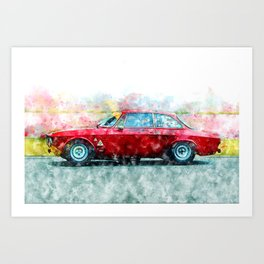 Alfa Giulia Racing Art Print