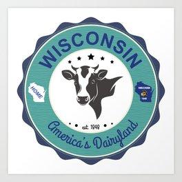 Wisconsin Dairyland Badge Art Print