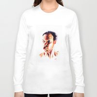 no face Long Sleeve T-shirts featuring Face by Martin Kalanda