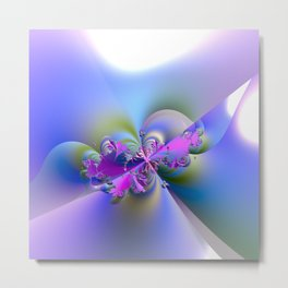 Fun, Joy and Happiness - Fractal Explosion Metal Print