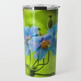 Blue Poppies Travel Mug