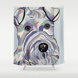 Wire Hair Terrier Denim Colors Shower Curtain