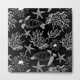 Underwater world, turtle Metal Print
