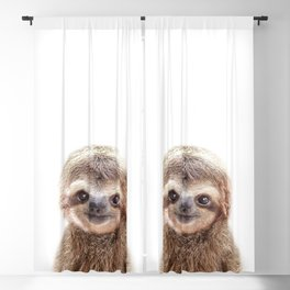 Baby Sloth, Baby Animals Art Print By Synplus Blackout Curtain
