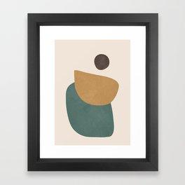 Abstract Minimal Shapes III Framed Art Print