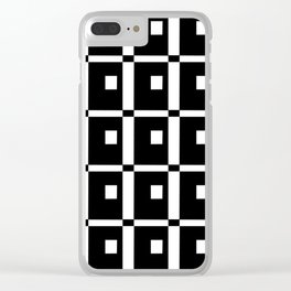 Tribute to mondrian 1- piet,geomtric,geomtrical,abstraction,de  stijl,composition. Clear iPhone Case