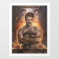 Ron ****ing Swanson Art Print