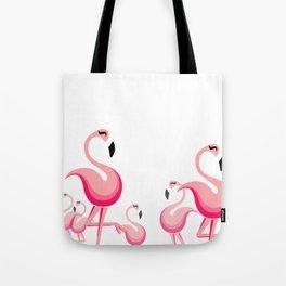 Happy Flamingo Tote Bag