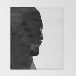 L'homme - nero Throw Blanket