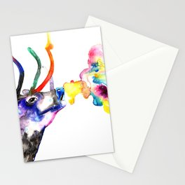 Winter Stag fantasy Christmas Gifts Stationery Cards