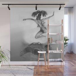 LIBERTE'! black and white Wall Mural