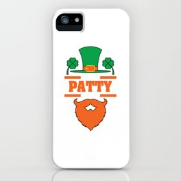 """""""It's Patty Time""""  tee design. Makes an awesome gift to your family and friends too! Grab your now!  iPhone Case"""