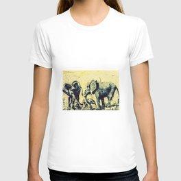 Save the Elephants          by Kay Lipton T-shirt