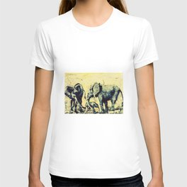 Save the Elephants          by Kay Lipton T-shirt