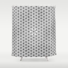 Seed grid Shower Curtain