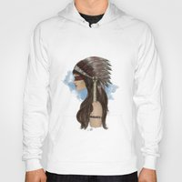 native american Hoodies featuring Native american by Erika Leiva