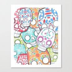skulls sugar Canvas Print