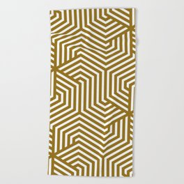 Sand dune - brown - Minimal Vector Seamless Pattern Beach Towel