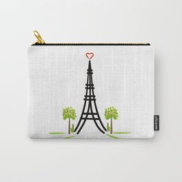 Paris Tower of Love Carry-All Pouch