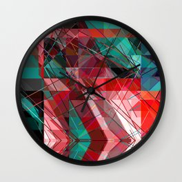 colored triangles Wall Clock