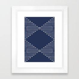 Geo (Navy) Framed Art Print