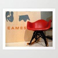 eames Art Prints featuring Eames by Melissa Nocero