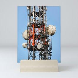 Radio station antennas Mini Art Print