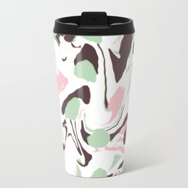 Stirred colors on white Travel Mug