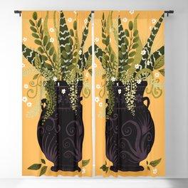 Black Vase I Blackout Curtain