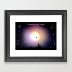 Venus in the solar transit. Framed Art Print