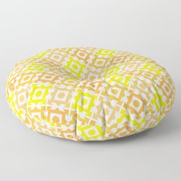 The arrow – yellow and light brown Floor Pillow