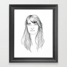 GOTTA LOVE FRANÇOISE HARDY  Framed Art Print
