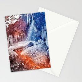 Acrylic Winter Stream Stationery Cards