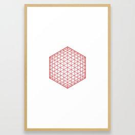 #184 Sphere/cube – Geometry Daily Framed Art Print
