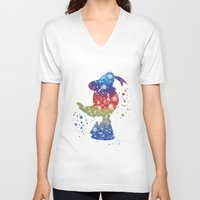donald duck V-neck T-shirts featuring Donald Duck Disneys by Carma Zoe