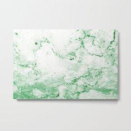 Vintage Green Marble Metal Print
