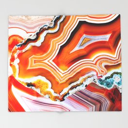 The Vivid Imagination of Nature, Layers of Agate Throw Blanket