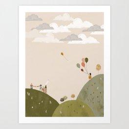 Mountain Walk Art Print