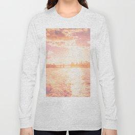 New York City Skyline Sunset Long Sleeve T-shirt