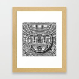 Ode To MC Escher Library of Congress Orb Framed Art Print