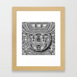 Ode To MC Escher Library of Congress Orb Framed Art Print