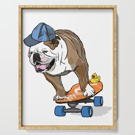 Yes, Let's Do It! - English Bulldog 1 Serving Tray